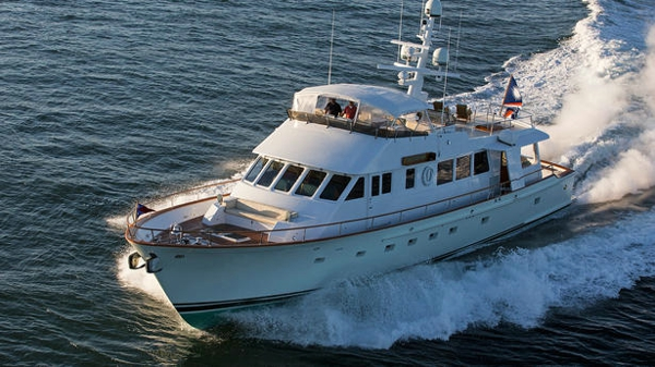 Lyman-Morse motor yacht Tumblehome now for sale with Ocean Independence and Northrop & Johnson