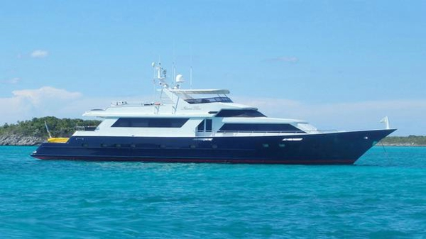 Broward motor yacht Island Time back on the market
