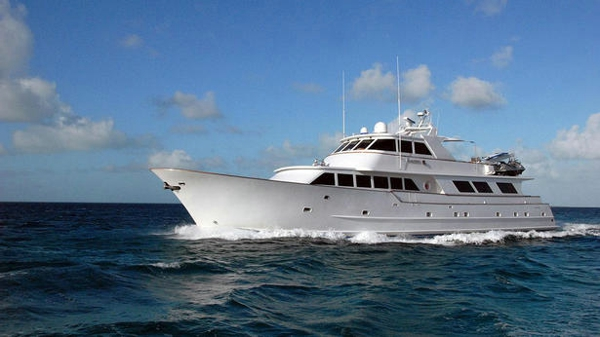 Broward motor yacht Kaleen back on the market