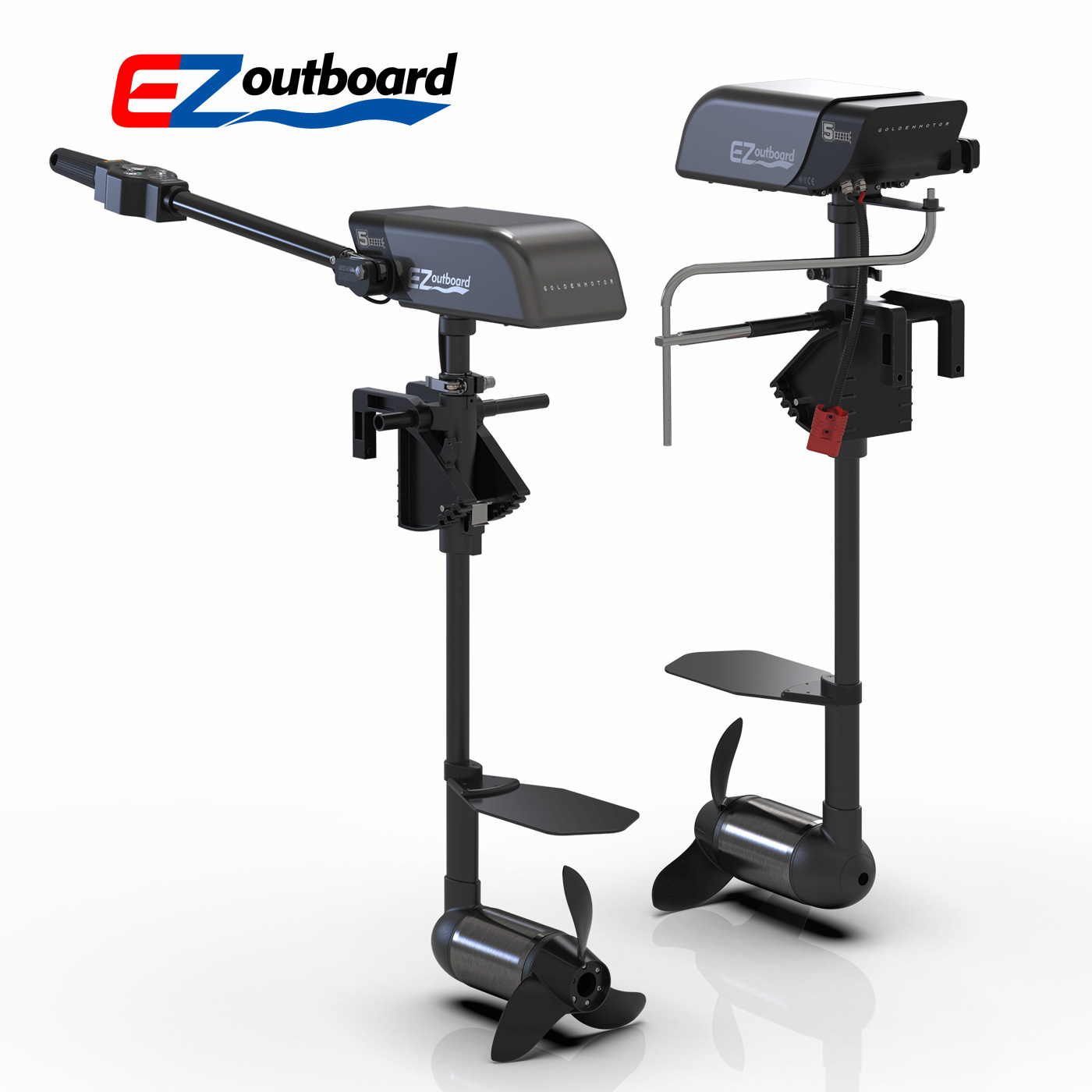 GoldenMotor EZoutboard Ultralight Incredible Thrust electric outboard boat motor with CE